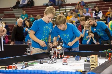 "Team ""Peanut Butter"" was the tournament champion at the eighth annual Grandville Lego League Tournament at Grandville High School."