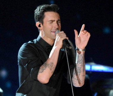 Adam Levine of Maroon 5, performing at the 2013 Grammy Awards.