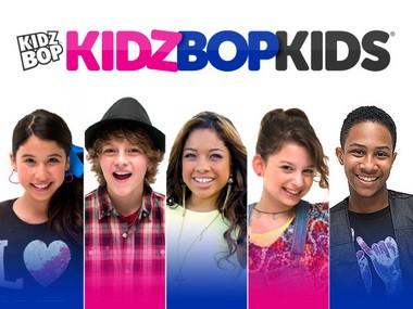 The cast of Kidz Bop including Detroit's Elijah Johnson (far right)