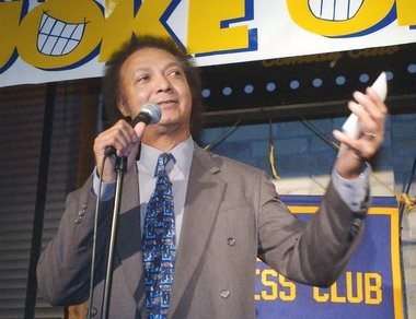 """West Michigan radio personality Bill Bailey competing in Grand Rapids Magazine's annual """"Joke-Off"""" at Dr. Grins Comedy Club at The B.O.B. in 2002. Bailey, 66, died unexpectedly on Wednesday, June 13, 2013. (File Photo 
