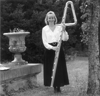 The contrabass flute, which sounds two octaves below the standard flute, is so large, you have to stand up in order to play it. (The Grand Rapids Press file photo)