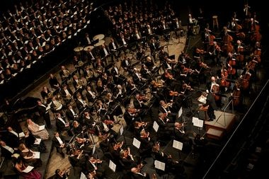 The Grand Rapids Symphony performing at the DeVos Performance Hall in downtown Grand Rapids.