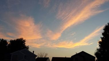 """A recent sunset, pictured from Kentwood, magnificently displayed the beauty of creation -- one of the experiences readers are asked to notice in Lynn Underwood's new book, """"Spiritual Connection in Daily Life."""""""