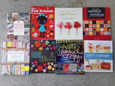 From appliqué to paper and fabric blooms, these new books contain enough inspiration to keep crafters going on projects until next spring.