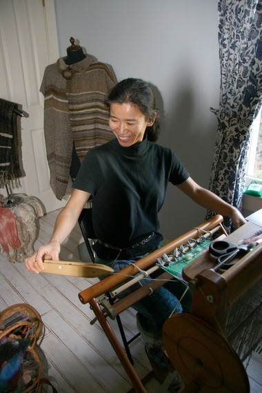 Chiaki O'Brien's SAORI weaving and Bengala (soild-based) dyeing workshops are full this year, but you can still load up on plenty of fiber goodness at the Michigan Fiber Festival Aug. 16 and 17 at the Allegan County Fairgrounds and then experiment at home.