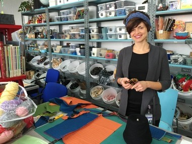 Kelly Allen, is the director of the new arts and crafts department at The Geek Group, 902 Leonard St. NW in Grand Rapids, and the creative force behind the new Wisemaker Creative Reuse Store and Studio that opened last month inside the maker space.