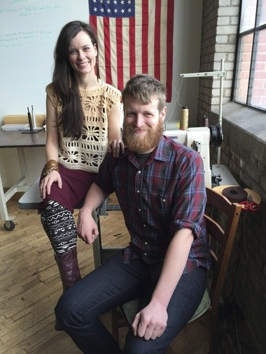 Leatherworkers Jacob Vroon and Elyse Marie Welcher, both 26 of Grand Rapids, believe destiny brought them together. She runs Littlewings Designs and he runs Harbinger Design. They sell their work at their shop, Parliament The Boutique, 120 S. Division Ave. #125, in Grand Rapids, and work together at Parliament The Studio, located inside an old furniture factory.
