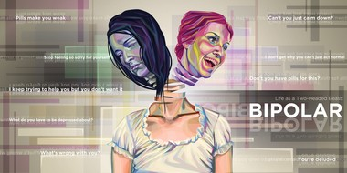 Artist Abigail Southworth tackles the misconceptions and stigma surrounding bipolar disorder in her 2011 ArtPrize entry, âLife as a Two-Headed Beast.â