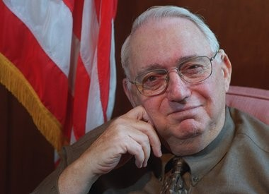 Hon. Albert Engel, retired federal judge, died on April 5, 2013 in Grand Rapids. Pictured here in a 2000 portrait.