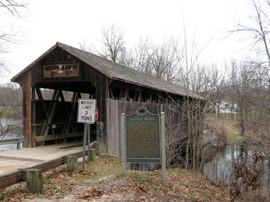 Erected in the late 1860s, the historic Whites Covered Bridge was destroyed by an arson fire on Sunday, July 7, 2013.
