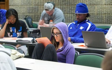 Students at Grand Valley State University
