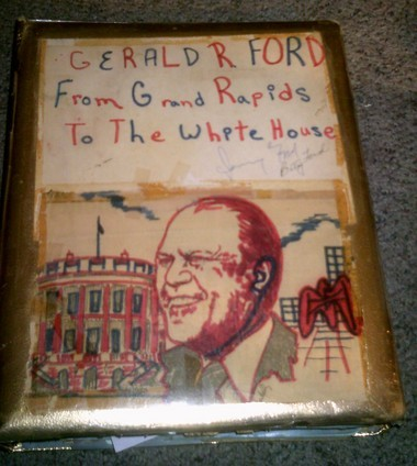 Gerald Ford signed Sharon Westover Knight's prized scrapbook.
