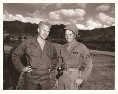 Gerald Ford and James Meekhof in Korea.