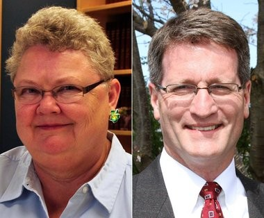 City Commissioner Sharon Brinks, left, and City Engineer Stephen Kepley are vying to be elected Kentwood mayor. Brinks won the August primary election comfortably, although Kepley has continued to raise more money during the campaign.