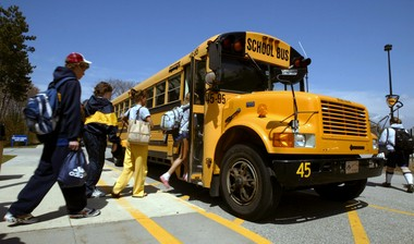West Michigan school bus engines are being turned off while children load and unload the buses to reduce emissions from the exhaust.