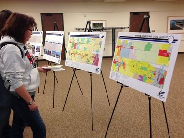 Interurban Transit Partnership officials descended on the campus of Grand Valley State University to solicit ideas for a new bus rapid transit line between the school and downtown Grand Rapids.