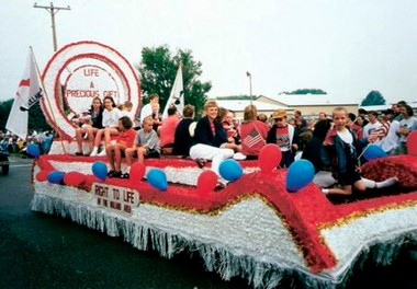 A Grand Rapids Right to Life float like this one will not be involved in the Saturday, Nov. 23, Santa Parade in Grand Rapids.