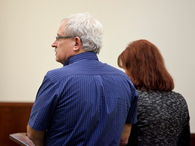Douglas Edward Kacos appears at Kent County Circuit Court on Monday, Jan. 27, 2014. Kacos, owner of the New Beginnings Restaurant chain, was sentenced for laundering money as part of a Ponzi scheme.