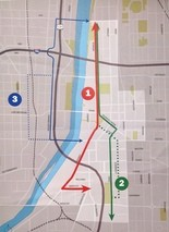 3 possible streetcar lines in downtown Grand Rapids