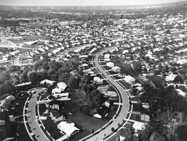 In the 1950s and 60s, citizens were leaving the central city for suburban neighborhoods like this one at Shawnee and Onekama Drives SE.