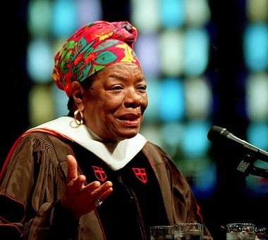Maya Angelou speaks at the Dimnet Chapel on Hope College's Campus in 2001.