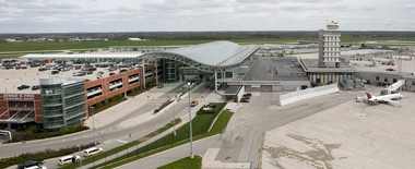 Gerald R. Ford International Airport in Grand Rapids as seen from a helicopter Friday, May 16, 2014.