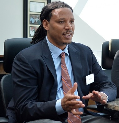 Brian Grant, a former NBA basketball star, was diagnosed with Parkinson's disease in 2008. He is taking part in the Grand Challenges in Parkinson's Disease symposium at the Van Andel Research Institute, Sept. 24-25, 2014.