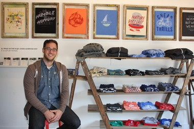 File photo of File photo Adam Weiler, founder of Ambrose in Holland where he led a screen printing and design business that hosts workshops, after school programs and summer camps for budding artists and creative types. He is now the director WMCAT's new social enterprise.