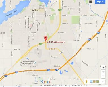 The location of a car-pedestrian crash early Saturday, April 30
