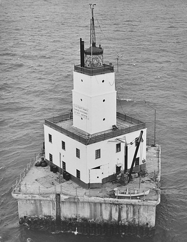 Another view of the North Manitou Shoal light. (Photo courtesy of the U.S. Coast Guard)
