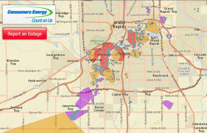Power Outage Map Shows Path Of Tornado Destruction Mlive Com