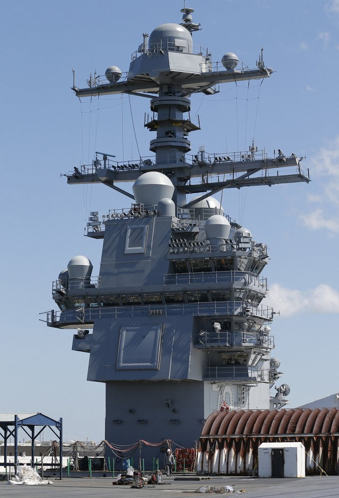 Take a tour of $12 9B USS Gerald R  Ford, '4 5 acres of