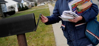A man has been sent to prison for stealing mail from hundreds of mailboxes along the lakeshore.
