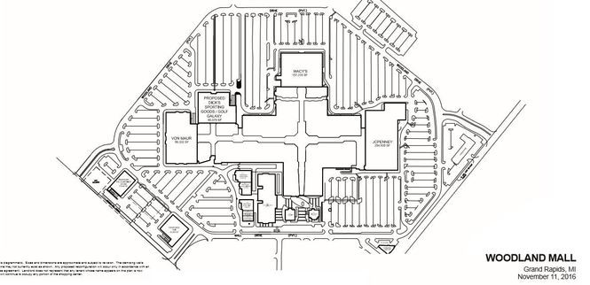 This is a map on the PREIT website showing the company's plans to replace Sears with a new wing of retailers.