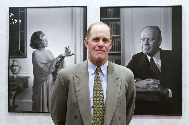 Steve Ford, son of President Gerald Ford, and former chairman of the Gerald R. Ford Presidential Foundation, poses for a portrait after the museum announced plans for a $15 million renovation and expansion on Thursday, June 19, 2014.