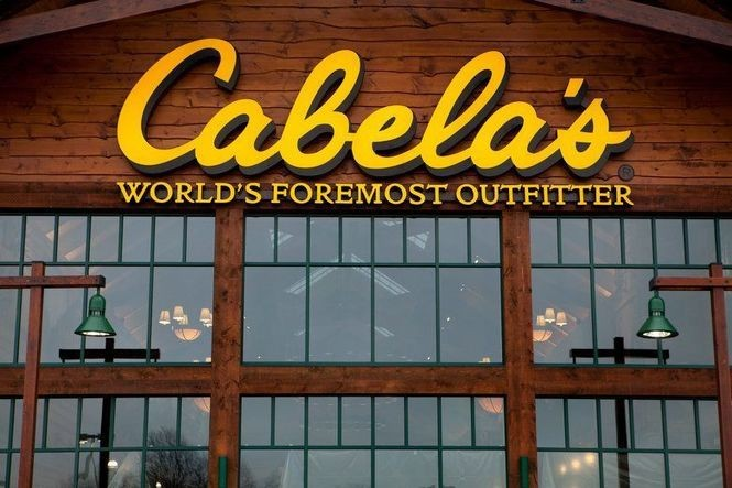 The Grandville Cabela's, located just east of RiverTown mall, next to Target.