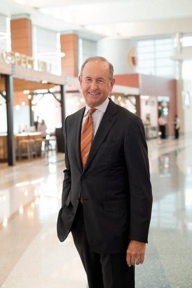 Dick DeVos poses for a photo at the Gerald R. Ford International Airport in Grand Rapids on Wednesday, Sept. 27, 2017. (Neil Blake | MLive.com)