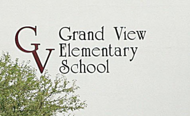 Students at Grand View Elementary School have been evacuated as a precaution because of a nearby gas leak.