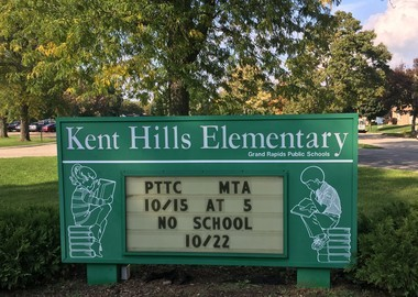 Kent Hills Elementary, located at 1445 Emerald Ave. NE.