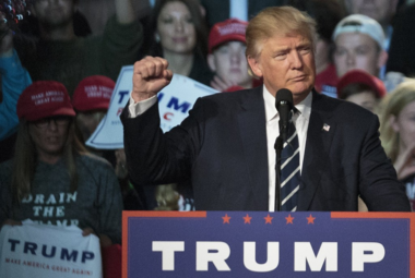 President Donald Trump during a 2016 rally in Grand Rapids.