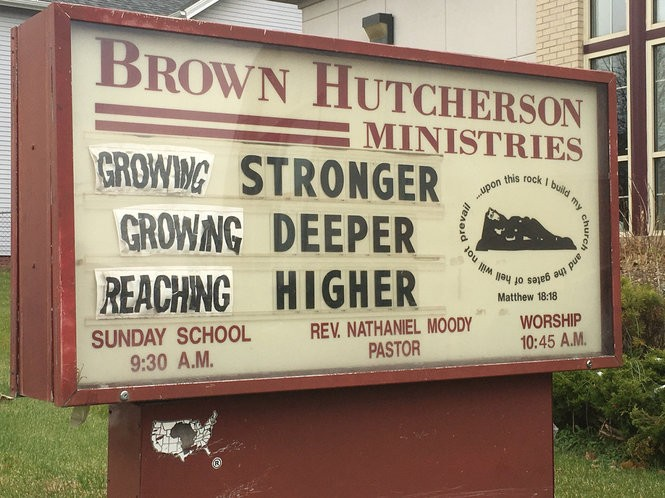 Brown Hutcherson Ministries and Brown Funeral Home across the street received racist, threatening calls, Grand Rapids police say.