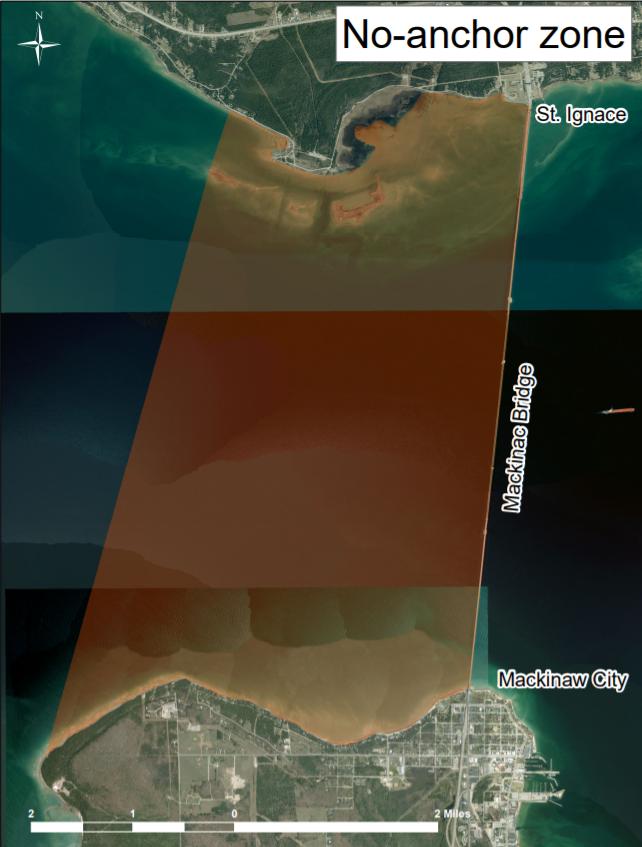 The no-anchor zone established by Gov. Rick Snyder.