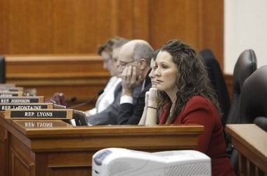 State Rep. Lisa Posthumus Lyons sits in a committee meeting on Dec. 12, 2012. She is the sponsor of the Education Authority legislation that has cleared the state House and is headed to the Senate.