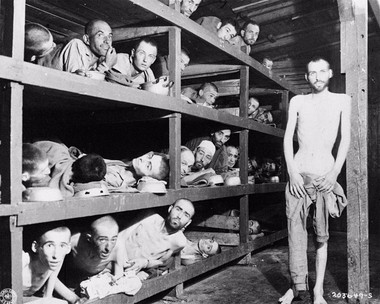 About 56,000 people were starved, tortured and executed at Buchenwald concentration camp in Weimar, Germany.