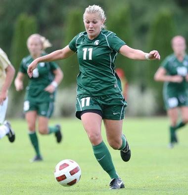 Laura Heyboer, a former Michigan State great from Hudsonville, has set her sights on playing professionally this season with Seattle Reign in the National Women's Soccer League.