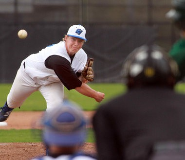 Kyle Schepel, Grand Valley State's all-time wins leader, pitched a seven inning no-hitter Sunday for South Bend.