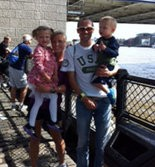The Ritzenheins: Dathan, wife Kalin and children Addison and Jude.