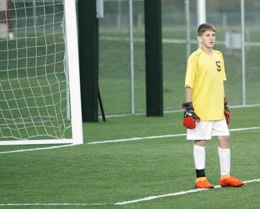 Freshman Aiden Kelly stepped into the void at the goalkeeper position for Comstock Park this season.