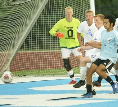 South Christian goalkeeper Isaac DeRuiter (0) and Isaac Timmer (15) have played key roles for the Sailors this season.