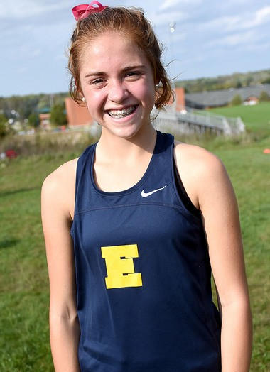 East Grand Rapids freshman Ainsley Workman has helped the Pioneers win the first two OK Gold jamborees this fall.